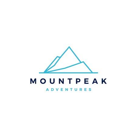 mount peak mountain logo vector icon illustration Ilustração