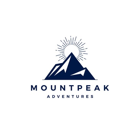 mount peak mountain logo vector icon illustration 일러스트