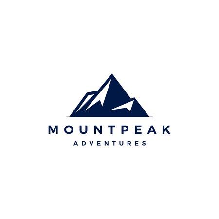 mount peak mountain logo vector icon illustration Illustration
