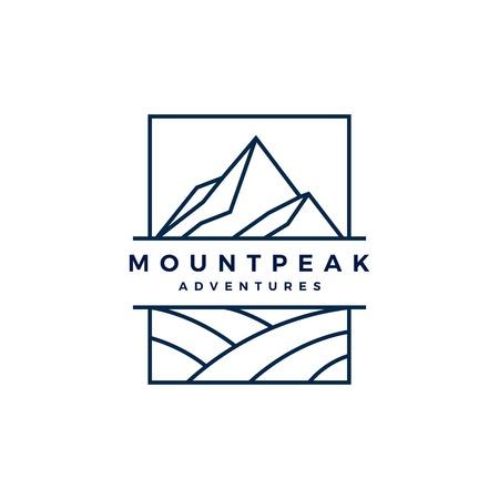 mount peak mountain logo vector icon illustration  イラスト・ベクター素材
