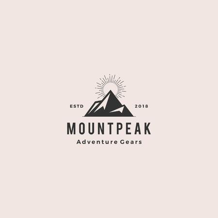 mount peak mountain logo hipster vintage retro vector icon illustration Illustration