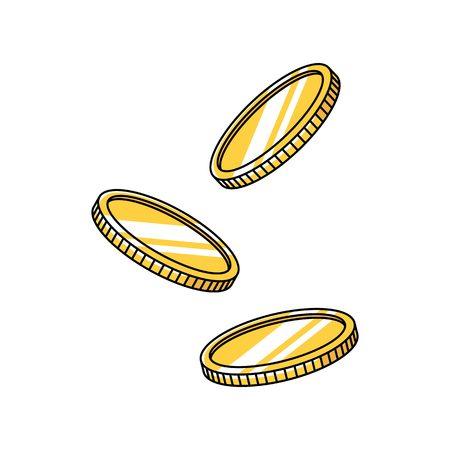 floating coin vector element illustration