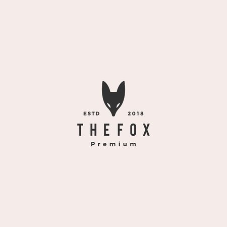 fox logo hipster vintage retro vector icon illustration Vettoriali