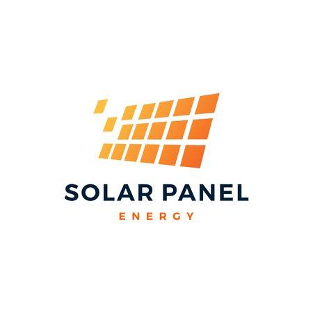 solar panel energy electric electricity logo vector icon Archivio Fotografico - 111134999