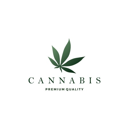 icône de vecteur de logo de feuille de cannabis