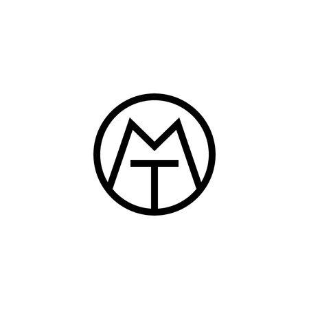 TM MT logo vector initial monogram icon vector