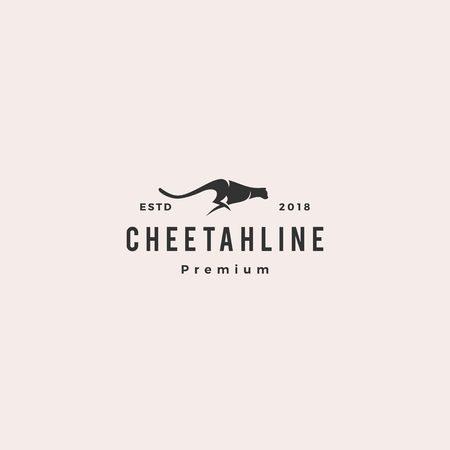 cheetah logo vector illustration