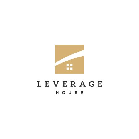 leverage house home logo vector icon Фото со стока - 114268908