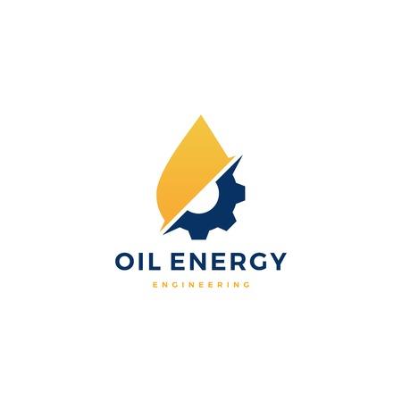 oil gear gas energy engineering logo vector icon illustration