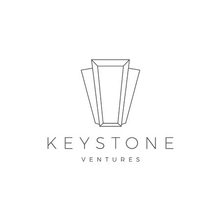 Keystone key stone logo vector icon illustration line outline monoline