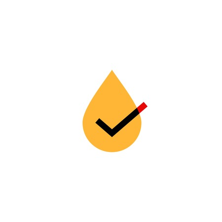 oil tea honey drop check logo vector icon illustration