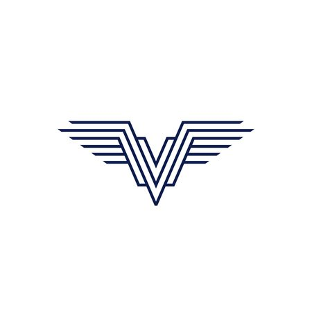 v wings logo vector emblem Logó