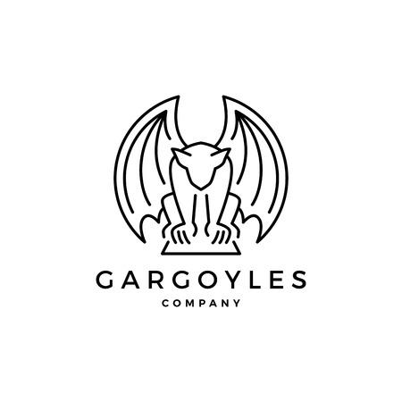 gargouilles gargouille logo contour vectoriel illustration Logo