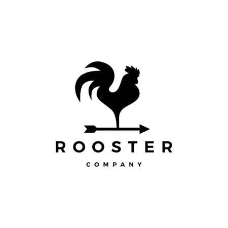 rooster vector arrow icon illustration