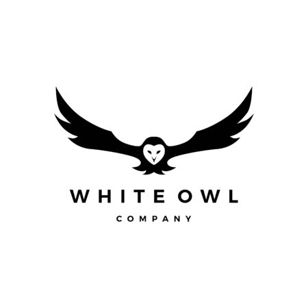 white owl vector icon illustration