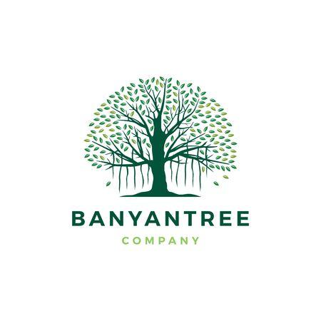 banyan tree vector icon illustration