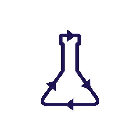 recycle lab vector icon illustration