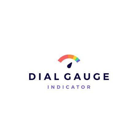 modern vibrant dial gauge logo vector icon illustration Vettoriali