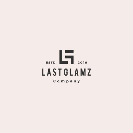 LG letter logo hipster vintage retro monogram lettermark vector icon