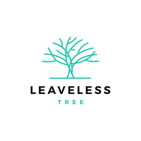 leafless tree logo vector icon illustration