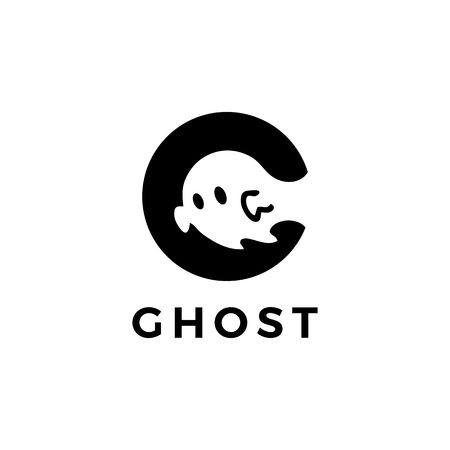 ghost logo vector icon illustration Ilustrace