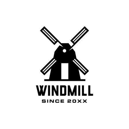 windmill logo vector icon illustration