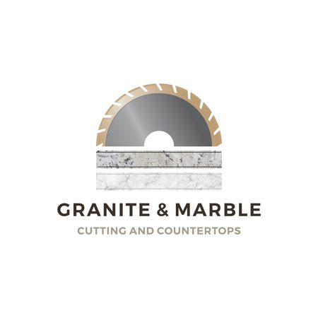 granite and marble cutting and countertop logo vector icon