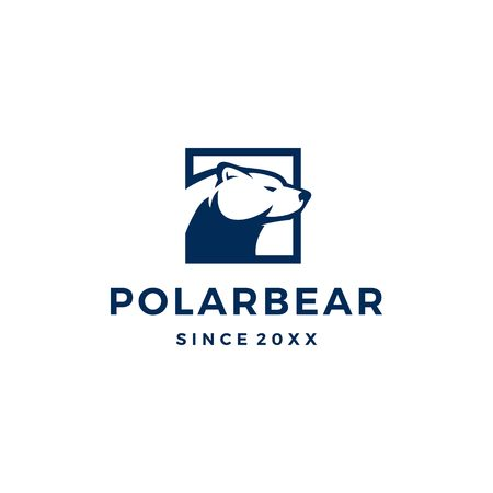 polar bear logo vector icon illustration