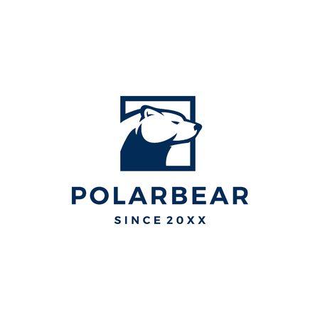 polar bear logo vector icon illustration