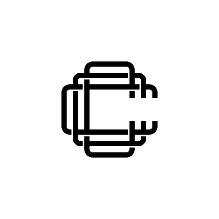 triple c monogram ccc letter hipster lettermark logo for branding or t shirt design
