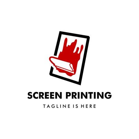 silk screen printing vector logo template Logo