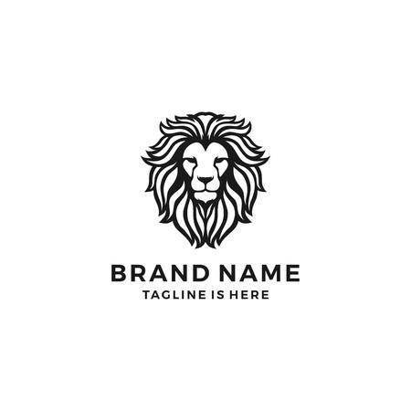 głowa lwa logo szablon wektor ikona Logo