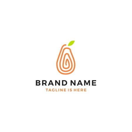 papaya logo vector template fruit icon Logo