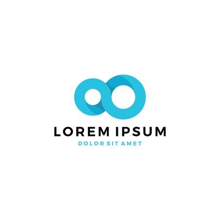 infinity mobius logo template vector icon illustration