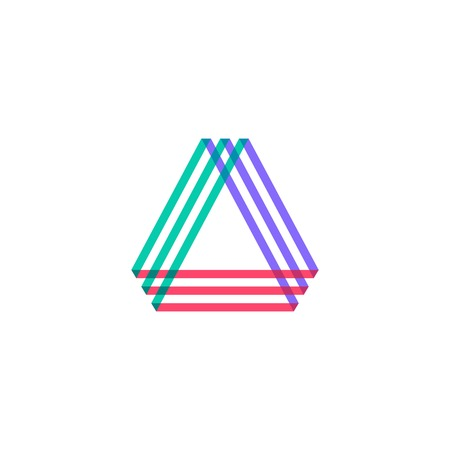 A letter triangle logo vector icon illustration