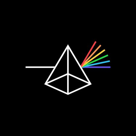 photon prism color logo vector icon illustration