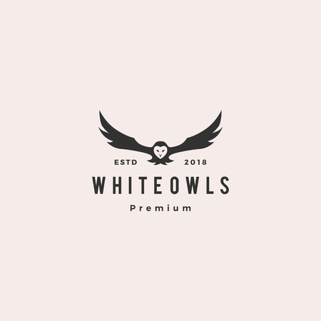 white owl logo vector icon illustration Reklamní fotografie - 120641110