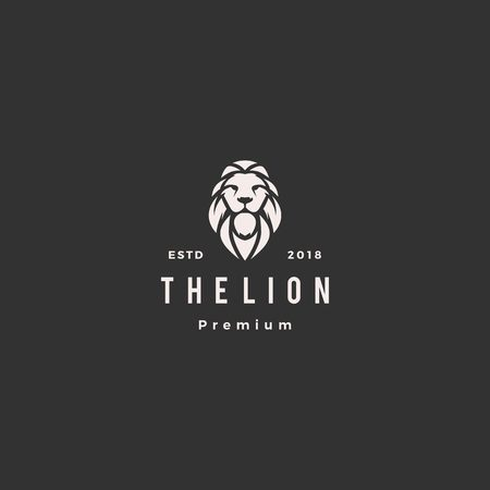 lion logo vector icon illustration