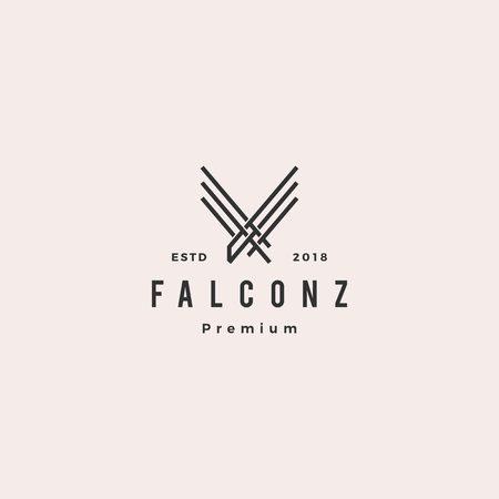 falcon eagle logo vector icon line outline illustration