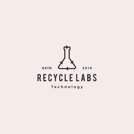 recycle lab logo vector icon illustration