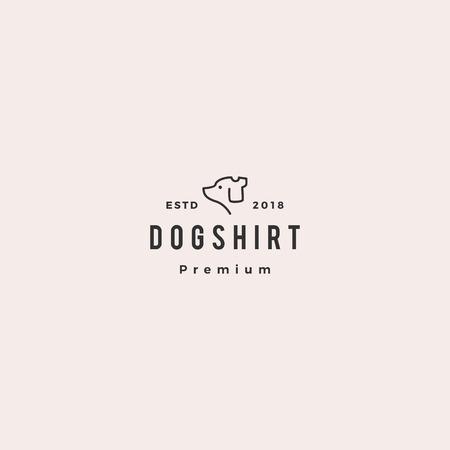 dog shirt logo vector icon illustration