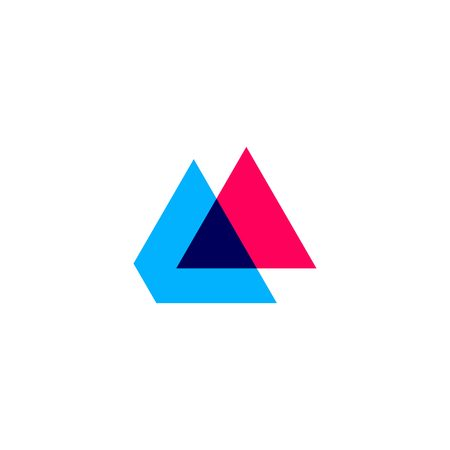 double triangle overlapping logo vector icon illustration Ilustração