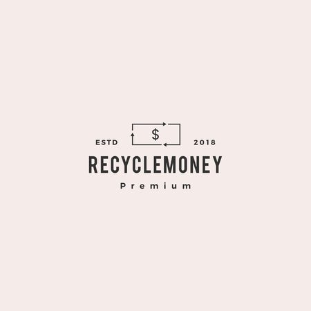 money cashflow recycle logo vector icon illustration