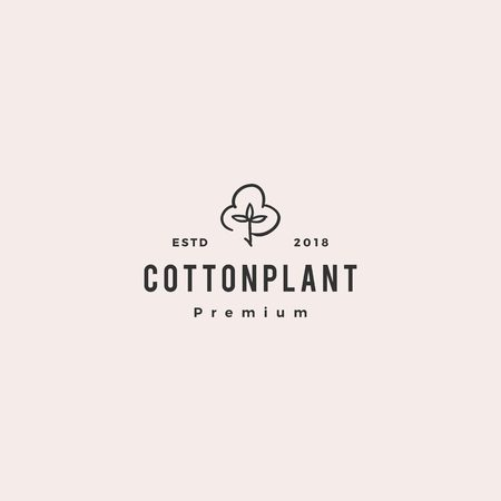 cotton logo vector icon illustration download
