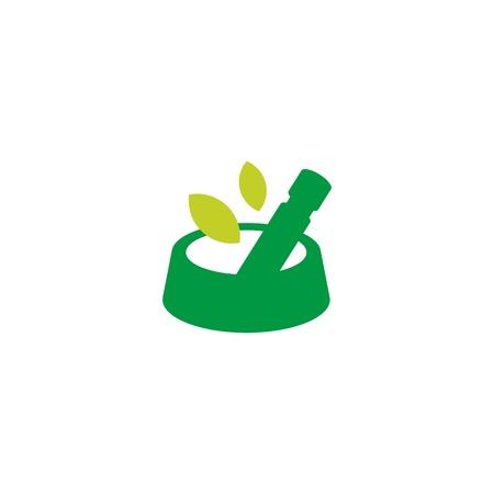 pet food bowl herbal concoction logo vector icon illustration Ilustração
