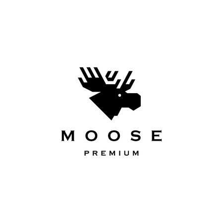 moose head logo vector icon illustration