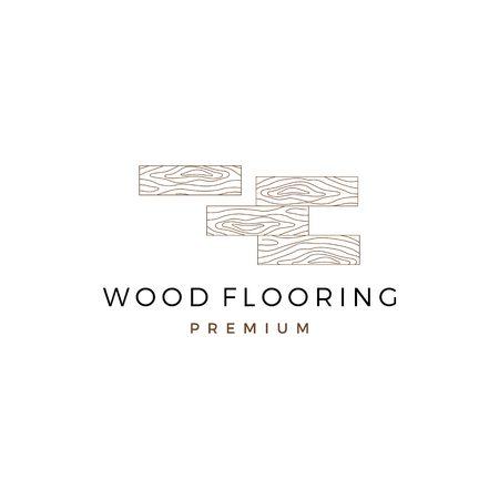wood parquet flooring vinyl hardwood granite tile logo vector icon illustration