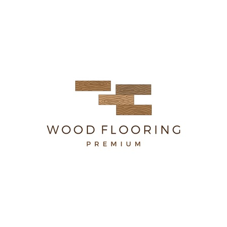 wood parquet flooring vinyl hardwood granite tile logo vector icon illustration Illustration