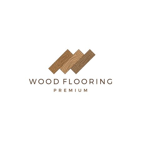 wood parquet flooring vinyl hardwood granite tile logo vector icon illustration Illusztráció