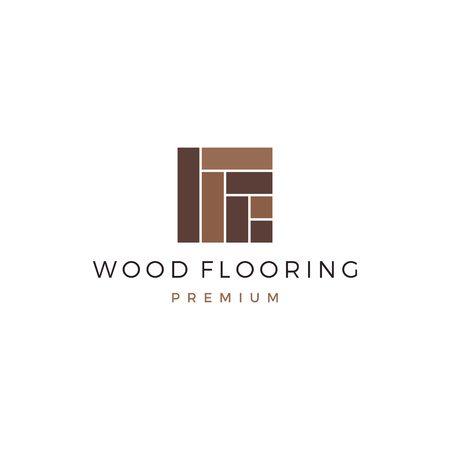wood parquet flooring vinyl hardwood granite tile logo vector icon illustration Vettoriali